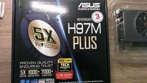 Asus H97m-Plus motherboard.